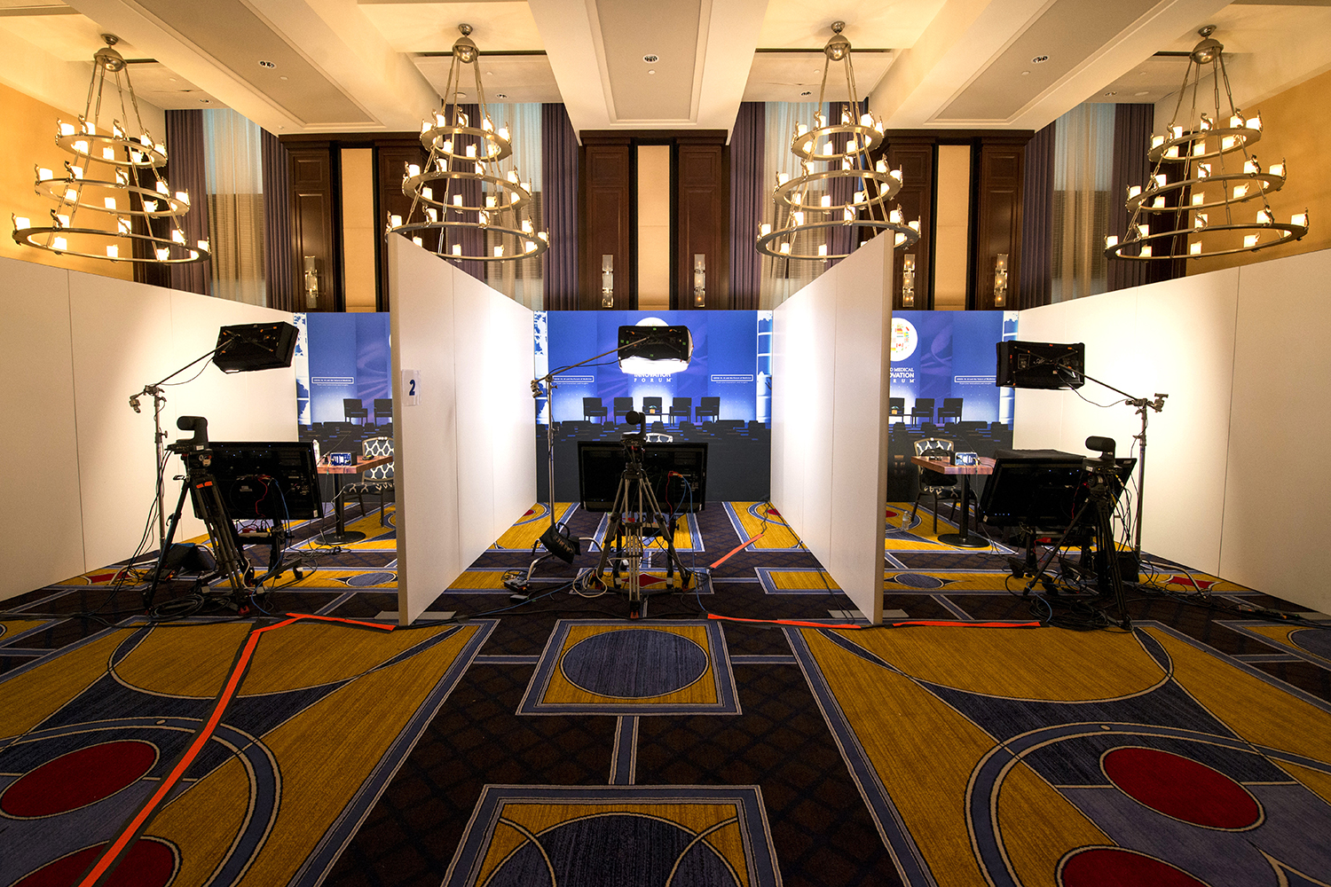 virtual forum space with separate booths